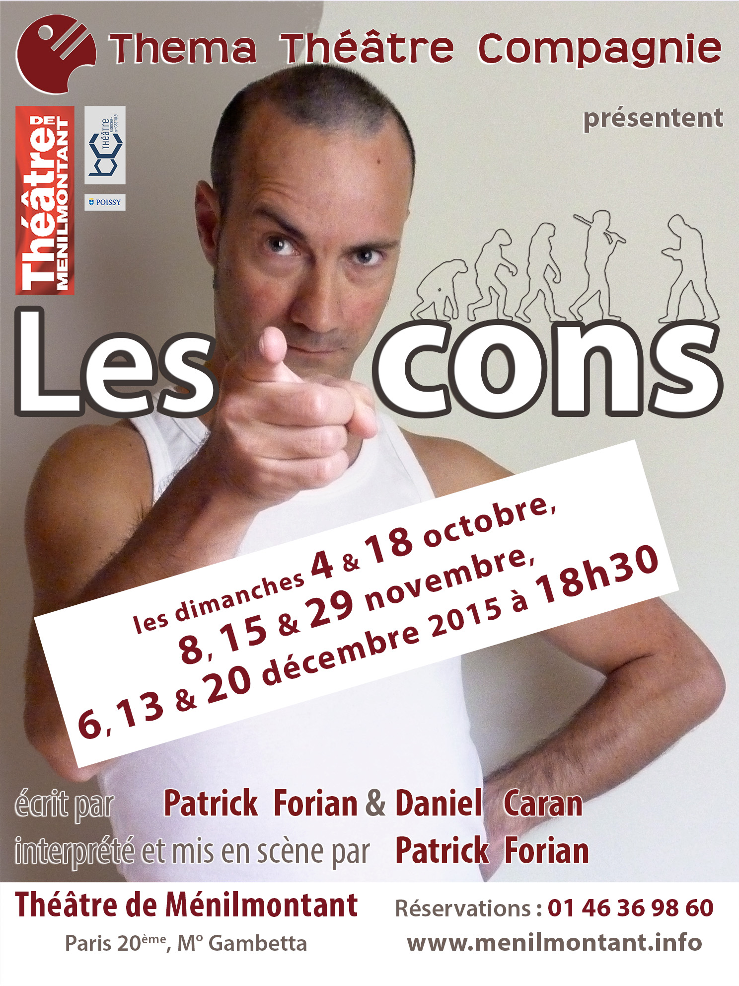 affiche les cons One man show